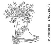 autumn shoes coloring page.... | Shutterstock .eps vector #1782018149