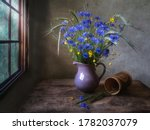 Rural Still Life With Bouquet...