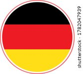 germany flag  flat  circle and...   Shutterstock .eps vector #1782047939