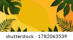 summer banner with tropic... | Shutterstock .eps vector #1782063539