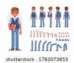 school boy character...   Shutterstock .eps vector #1782073853