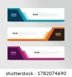 vector abstract banner design... | Shutterstock .eps vector #1782074690