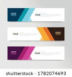 vector abstract banner design... | Shutterstock .eps vector #1782074693