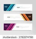 vector abstract banner design... | Shutterstock .eps vector #1782074780
