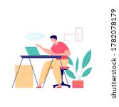 online class meet vector... | Shutterstock .eps vector #1782078179