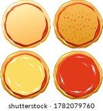 pizza dough preparation  raw... | Shutterstock .eps vector #1782079760