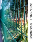 Mesh Fence. Green Metal Fence...