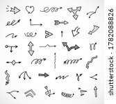 vector set of hand drawn arrows | Shutterstock .eps vector #1782088826