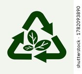 Recycling Symbol With Leaves...
