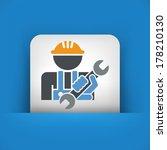 worker icon | Shutterstock .eps vector #178210130