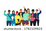 a collection of multicultural ... | Shutterstock .eps vector #1782109823