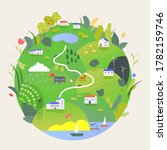 summer earth planet vector... | Shutterstock .eps vector #1782159746
