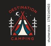 camping adventure logo emblem... | Shutterstock .eps vector #1782160403