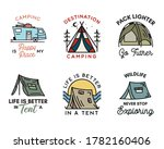 camping adventure badges logos... | Shutterstock .eps vector #1782160406