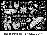 modern bohemian style  folk...   Shutterstock .eps vector #1782183299