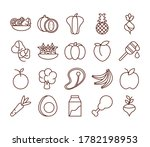healthy food fresh fruits... | Shutterstock .eps vector #1782198953