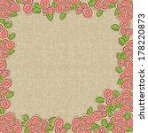 vector vintage floral ... | Shutterstock .eps vector #178220873