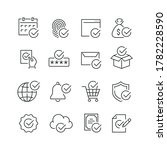 approve related icons  thin... | Shutterstock .eps vector #1782228590