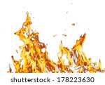 abstract background. flame fire ... | Shutterstock . vector #178223630