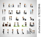 business peoples in different... | Shutterstock .eps vector #178223846