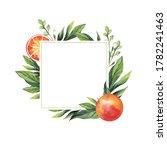watercolor illustration. square ... | Shutterstock . vector #1782241463