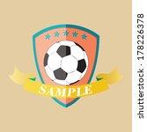 vector illustration of football ... | Shutterstock .eps vector #178226378