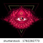 abstract symbol of all seeing... | Shutterstock .eps vector #1782282773