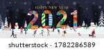 vector happy new year 2021 with ...   Shutterstock .eps vector #1782286589