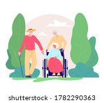 group of old people walking... | Shutterstock .eps vector #1782290363