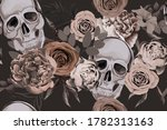 floral seamless pattern with... | Shutterstock .eps vector #1782313163