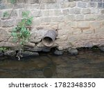 Round Pipe Protruding From...