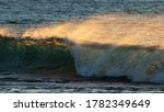 Breaking Ocean Wave With White...