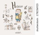 cute vector alphabet profession....   Shutterstock .eps vector #178236923
