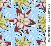 vector texture with exotic...   Shutterstock .eps vector #1782384803
