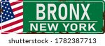 Bronx Green Road Sign Isolated...