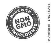 gmo free grunge rubber stamp on ... | Shutterstock .eps vector #1782451496