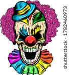 scary skull of a clown in a hat ... | Shutterstock .eps vector #1782460973