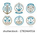 anchor logo  nautical adventure ...   Shutterstock .eps vector #1782464516