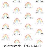 vector seamless pattern of hand ... | Shutterstock .eps vector #1782466613