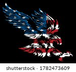 Tribal American Eagle With Flag ...