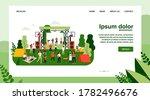 outdoor rock concert and food... | Shutterstock .eps vector #1782496676