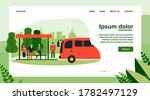 passengers standing at bus stop.... | Shutterstock .eps vector #1782497129