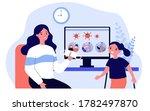 mother explaining disease...   Shutterstock .eps vector #1782497870