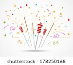fireworks popping on white... | Shutterstock .eps vector #178250168