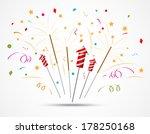 fireworks popping on white... | Shutterstock .eps vector #178250168