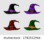 colorful witch and wizards hats ... | Shutterstock .eps vector #1782512966