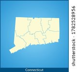 vector map of the connecticut | Shutterstock .eps vector #1782528956