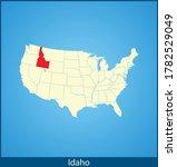 vector map of the idaho | Shutterstock .eps vector #1782529049
