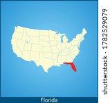 vector map of the florida | Shutterstock .eps vector #1782529079