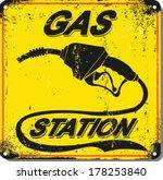 vector illustration.vintage gas ...   Shutterstock .eps vector #178253840